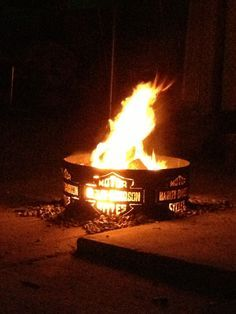 harley davidson fire pit ring - Google Search