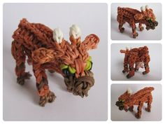 Loombicious 3D goat tutorial on the Rainbow Loom