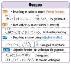 All about Onomatopoeia, including their forms, usages, and impostors (pseudo-onomatopoeia). Japanese Language Learning, Learning Japanese, Adverbs, Languages, Psychology, Homeschool, The Unit, Japanese Language, Idioms