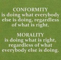 Conscious choices every day...