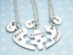 Collar de BFF mejor amigo collar collar de por YoursSincerelyDesign