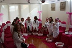 Hot Pink Spa Themed Girls Party - Photos - Ideas and Tips About Our Girls Spa Party
