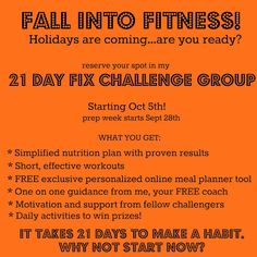 Spoonful at a Time: Fall Into Fitness with the 21 Day Fix!