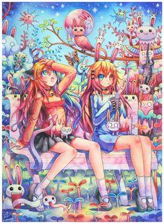 Dream of Leporiphobia : 255 by emperpep. #Anime #Manga #AnimeGirl #Art #gosstudio .★ We recommend Gift Shop: http://www.zazzle.com/vintagestylestudio ★