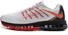 Air Max 2015 Orange White Black Mens Shoes