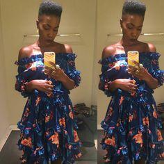 @erykahachebe #blackisbeautiful #melanin #hightopfade #ruffledress