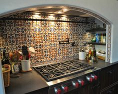 Spanish Tile Backsplash Design, Pictures, Remodel, Decor and Ideas