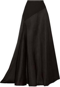 Lanvin Jersey-Paneled Wool and Silk-Blend Maxi Skirt - Herren- und Damenmode - Kleidung Modest Fashion, Hijab Fashion, Fashion Outfits, Apostolic Fashion, Modest Clothing, Skirt Outfits, Dress Skirt, Skirt Pleated, Linen Skirt