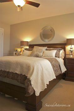 Soft and serene bedroom redo from www.seasideinteriors.ca