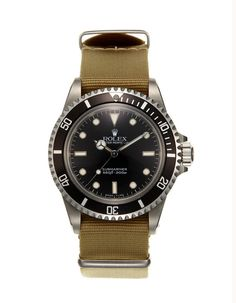 no date rolex oyster perpetual submariner watch (c. 1985).