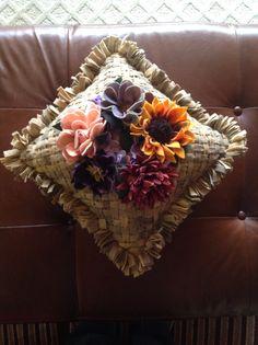 Proddy Pillow Designed by Gene Shepherd Hooked by Nancy Balmer