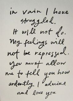 quote from Mr.Darcy