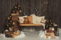 Novogodišnji dekor: kako napraviti sjajnu atmosferu u kući Christmas Mini Sessions, Christmas Minis, Diy Christmas Tree, Christmas Settings, Christmas Baby, Simple Christmas, Christmas Time, Christmas Photo Booth, Christmas Backdrops