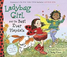 Ladybug Girl and the Best Ever Playdate by David Soman and Jacky Davis. Lulu is excited to play with the toy that her best friend Finny brings over, but when the toy loses a wheel and fixing it becomes a game in itself, Lulu realizes that it's even better to play with Finny. Find this under E SOM.