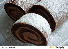 Healthy Cake, Healthy Diet Recipes, Sweet Desserts, Sweet Recipes, Baking Recipes, Cookie Recipes, Cake Roll Recipes, Czech Recipes, Chocolate Sweets
