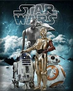 Droids of Star Wars Star Wars Fan Art, Bb8 Star Wars, Star Wars Film, Theme Star Wars, Star Wars Poster, Star Wars Rebels, Star Wars Pictures, Star Wars Images, Harison Ford