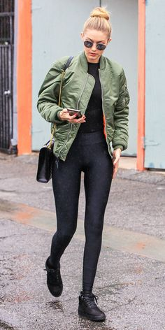 How to Wear a Bomber Jacket Like a Celebrity, Celebrities in Bomber Jackets | InStyle.com