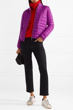 MONCLER chic Actea quilted cashmere down jacket