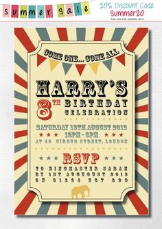 69 best wedding invitation ideas images on pinterest invitations personalized kids circus birthday party invitations download print at home diy invites fandeluxe Image collections