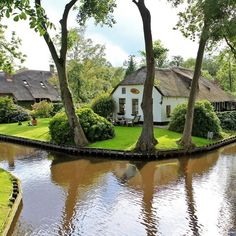 Cottages:  Thatched-roof #cottage, Holland.