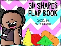 3 Dimensional Shapes Flap Book FREEBIE