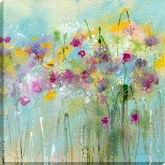 Sue Fenlon - April Showers Print on Canvas, 90 x 90cm