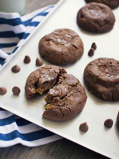 Caramel and Nutella Stuffed Chocolate Chip Cookies