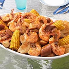 What could be more fun? Newspapers covering the table. Fingertips full of flavor. No food brings people together quite like a shrimp boil. Just roll up your sleeves and enjoy piles of steaming, delicious shrimp. - The Original Old Bay Shrimp Boil Shrimp Fest