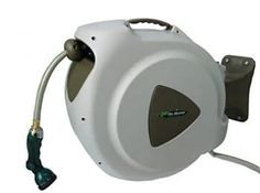RL Flo Master Retractable Hose Reel with 8 Spray Pattern Nozzle 65 Foot Retractable Garden Hose Reel, Cleaning Vinyl Siding, Braided Hose, Sprinklers, Amazing Gardens, Home Depot, 3 D, Stuff To Buy, Sprinkler