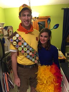 Kevin and Russell from Up DIY Halloween costume!