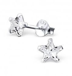 £9.95  Sterling Silver Star Earrings 5mm