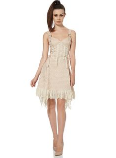 7f34b4f8f2794c Details about Jawbreaker Creme  Victorian Lace Dress Buckle Rock Punk Fit    Flare Lotita