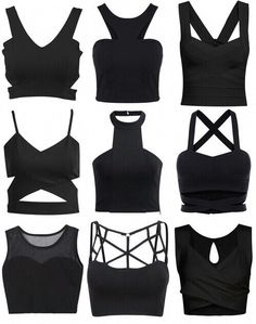 Black cutout-tops