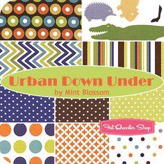Urban Down Under Fat Quarter Bundle Mint Blossom for Northcott Fabrics - Fat Quarter Shop