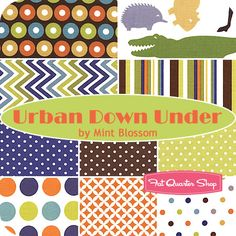 Urban Down Under Fat Quarter Bundle Mint Blossom for Northcott Fabrics - Fat Quarter Shop