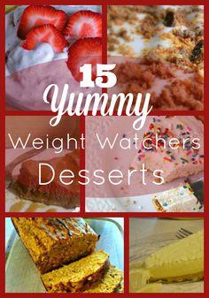 15 Yummy Weight Watchers Dessert Recipes