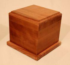 Hardwood Urn - Traditional - Cherry - celebratelifeiowa Affordable Cremation, Types Of Wood, Urn, Funeral, Hardwood, Cherry, Decorative Boxes, Traditional, Home Decor