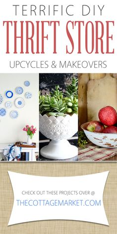 Terrific DIY Thrift Store Upcycles and Makeovers - The Cottage Market