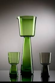 Wszewłod Sarnecki, pitcher and glass, green glass and smoke, 1965 Colored Vases, My Cup Of Tea, Mid Century Design, Glass Design, Decorative Objects, Glass Art, Glass Rocks, Pottery Art, Art Decor