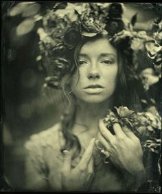 I am obsessed with Mark Sink's wet plate photography. His female portraitures are so soft and elegant- almost romantic. It is as if his work might appear in a dream one might have..