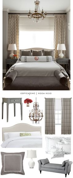 Copy Cat Chic: Copy Cat Chic Room Redo | Classic Gray Bedroom recreated by @audreycdyer