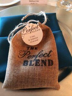 The Perfect Blend - Coffee Favors! http://www.wienscellars.com/temecula-wedding/