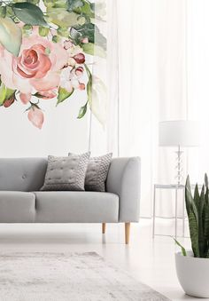 For a beautiful, classic floral wall mural with a modern twist, choose this gorgeous Romantic Flower Chandelier wallpaper.Imagine this stunning floral wallpaper in your dining room, installed along the wall in the same direction of the length of your dining table. We have paste the wall or peel and stick wallpapers to choose from. Click to see our large collection of wall murals at wallsauce.com #wallmural # wallpaper #floralwallpaper #homedecor Where to buy floral wallpaper. Peel And Stick Wallpaper, Wall Wallpaper, Wall Murals, Wall Art Decor, Mural Floral, Natural Wood Decor, Flower Chandelier, Tropical Wallpaper, Romantic Flowers