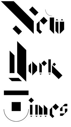The New York Times Magazine logotype by Non-Format, via Behance