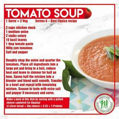 Weigh-Less Best Choice Recipe Soup Recipes, Diet Recipes, Recipies, Healthy Eating Recipes, Healthy Meals, Good Food, Yummy Food, Diet Inspiration, Nutrition Tips