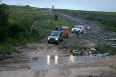 Driving through a river to reach a rural community in the Eastern Cape, South Africa