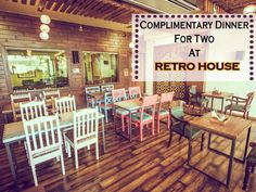 Complimentary Dinner for Two at Retro House! Retro House Address: B-9, Roop Vihar, Swage Farm, New Sanganer Road Call: 0141-4004555 #Cafes #Restaurants #NorthIndian #Classy  #RetroHouse #CityShorJaipur