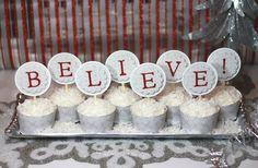 polar express cupcakes