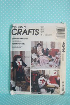 Vintage Doll Pattern. McCall's 4344.  Just reduced in price. Victorian Doll Pattern. UnCut, Factory Folded. Cheap Vintage Pattern. Downton Abby DollCheap Shipping by FashionSew on Etsy