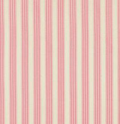 SALE! Verna Mosquera Pirouette Vintage Ticking in Flamingo Fabric One Yard